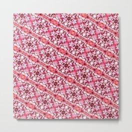 30 degree pink & red Metal Print