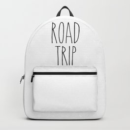 Road Trip text Backpack