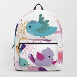 Lovely Cartoon Birds Pattern Backpack