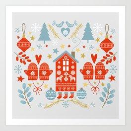 Laplander Winter Holiday Art Print