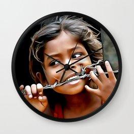Hungry Art (People Art) Wall Clock