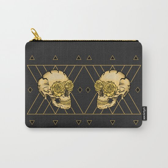 Golden Skull composition  Carry-All Pouch