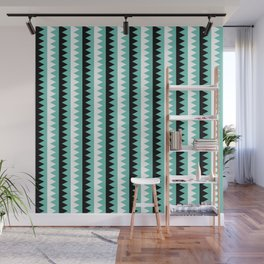 Geometric Pattern 190 (teal zigzag) Wall Mural