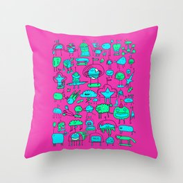 Super Space Party Throw Pillow