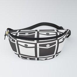 65 MCMLXV Black and White Mod Pockets Pattern Fanny Pack