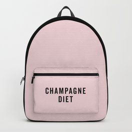 Champagne Diet Funny Quote Backpack