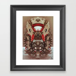 """""""Kokeshi Doll"""" Framed Art Print"""