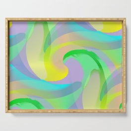 Soft Rainbow Abstract - Painterly Serving Tray