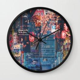 Tokyo city of lights Wall Clock