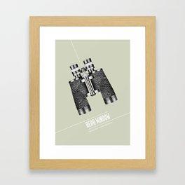 Rear Window - Alternative Movie Poster Framed Art Print