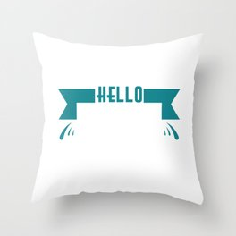 """Simple and nice tee design perfect gift this seasons of giving. Grab this """"Hello spring"""" tee now!  Throw Pillow"""