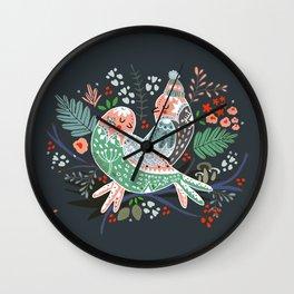 Holiday Birds Love Wall Clock