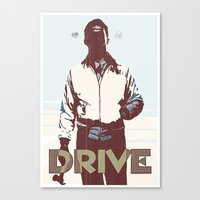 drive Canvas Prints featuring Drive by Duke Dastardly