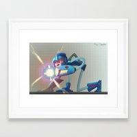 megaman Framed Art Prints featuring Megaman! by RoboChandler
