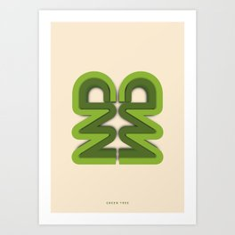 Symmetry: Green Tree Art Print