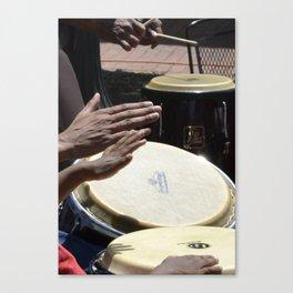 playing bongos Canvas Print