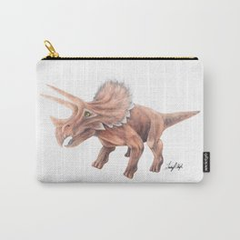 Orange Triceratops Carry-All Pouch