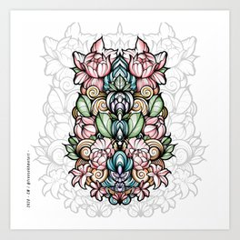 Creep mandala Art Print