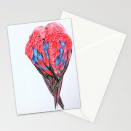 Red Lories Stationery Cards