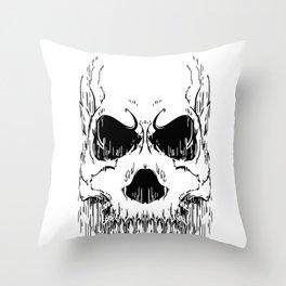 FULL FACE SKULL Throw Pillow