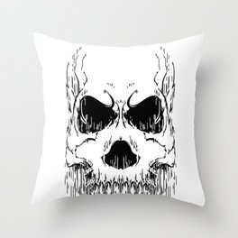 FULL FACE SKULL Throw Pillow