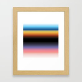 The Skys Colour Framed Art Print