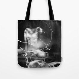 nude lightpainting Tote Bag