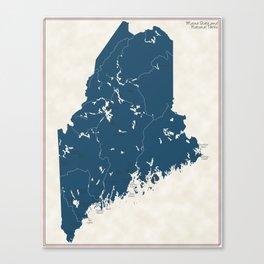 Maine Parks - v2 Canvas Print