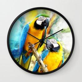 Macaw friends Wall Clock
