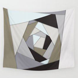 Rotating Geometric Layers Wall Tapestry