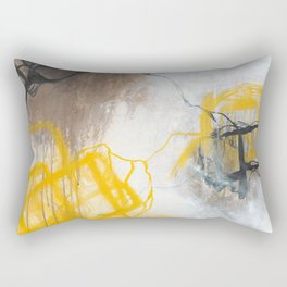 Tension - Square Abstract Expressionism Rectangular Pillow