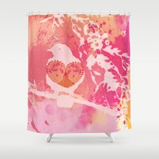 Hope is a Thing With Feathers Shower Curtain