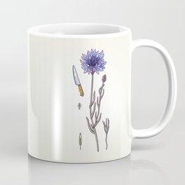 blue cornflower and knife Coffee Mug