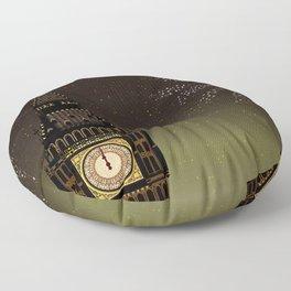 Big Ben And New Year Floor Pillow