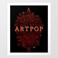 artpop Art Prints featuring Artpop by Mario Ezquerra