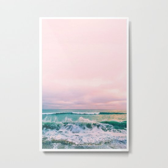 beach sunset photo Metal Print