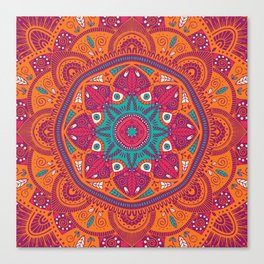 Colorful Mandala Pattern 017 Canvas Print