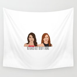 Tinamy Tina Fey and Amy Poehler Bitches Get Stuff Done Wall Tapestry