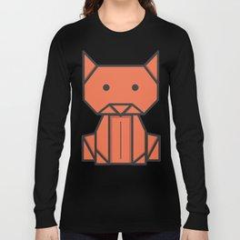 Origami Cat Long Sleeve T-shirt