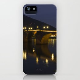 Heidelberg Bridge by night iPhone Case