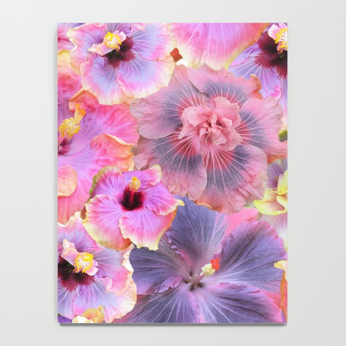 Tropical hibiscus patterns Flower Floral Flowers Notebook