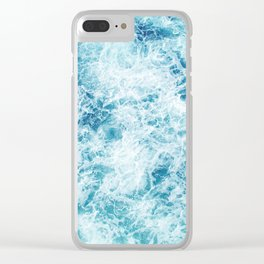 Sea ocean storm waves Clear iPhone Case