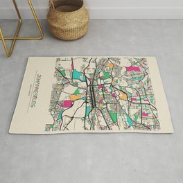 Colorful City Maps: Johannesburg, South Africa Rug