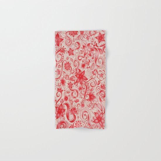 RED  Hand & Bath Towel
