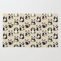 pandas Area & Throw Rugs featuring Pandas by Olya Yang