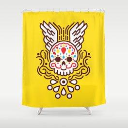 Minimal Skull Shower Curtain