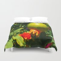 pomegranate Duvet Covers featuring Pomegranate by Ricarda Balistreri