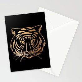 Gold and Black Tiger Stationery Cards