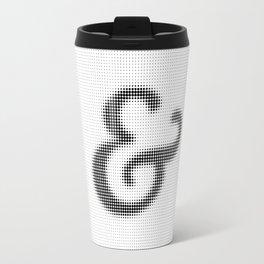 Halftone Ampersand Serif Travel Mug