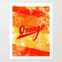Orange Mage Art Print